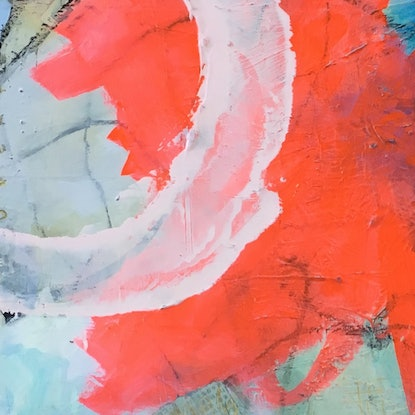 (CreativeWork) Good Reef by Nicole Fearfield. Mixed Media. Shop online at Bluethumb.