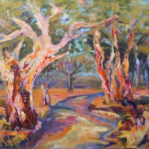 (CreativeWork) KYNETON, SOUTH AUSTRALIA by Maureen Finck. oil-painting. Shop online at Bluethumb.
