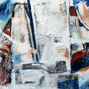 (CreativeWork) UNDER THE RUG by Maureen Finck. mixed-media. Shop online at Bluethumb.