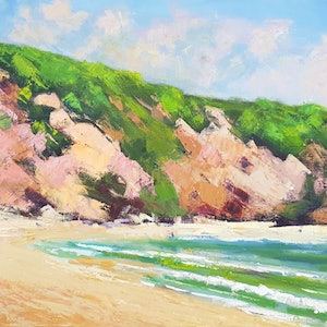 (CreativeWork) Coloured Sands Impressions by Rod Moore. oil-painting. Shop online at Bluethumb.