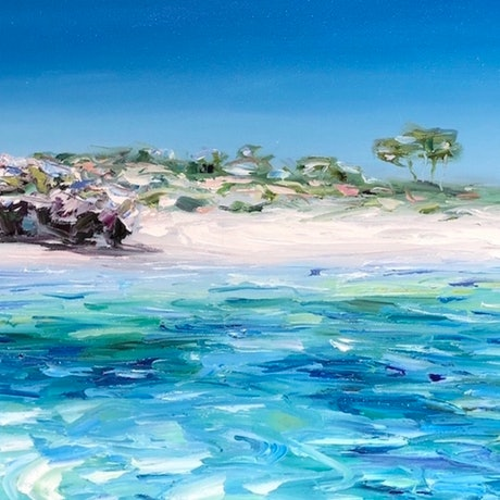 (CreativeWork) Into the Basin by Jo Meredith. Oil Paint. Shop online at Bluethumb.