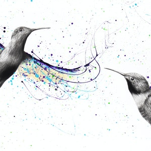 (CreativeWork) Together We Fly by Ashvin Harrison. arcylic-painting. Shop online at Bluethumb.