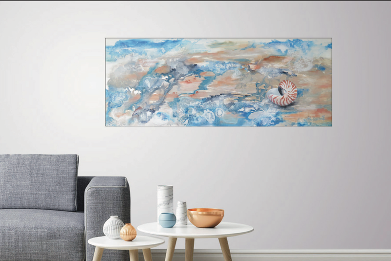 (CreativeWork) On the Sea Shore by Tricia Bradford. Mixed Media. Shop online at Bluethumb.