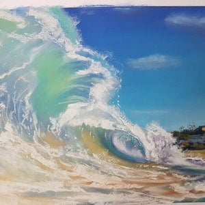 (CreativeWork) The Wave - Manly by Irina Kozyrevitch. drawing. Shop online at Bluethumb.