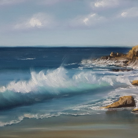 (CreativeWork) The Wave  (Pastel) by Irina Kozyrevitch. Drawings. Shop online at Bluethumb.