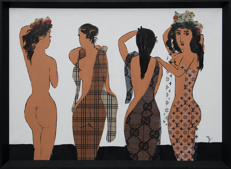 (CreativeWork) Picasso's Girls - Framed by Maria Al Zoubi. Mixed Media. Shop online at Bluethumb.