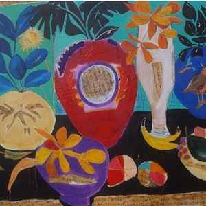 (CreativeWork) Blossom by Jean Cooper-Brown. arcylic-painting. Shop online at Bluethumb.