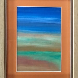(CreativeWork) Leftover Landscape - 2018 by Fiona Cadd. oil-painting. Shop online at Bluethumb.