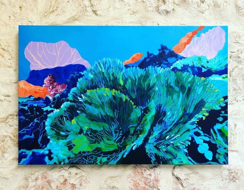(CreativeWork) Submerged by Amanda Kimberley. Acrylic Paint. Shop online at Bluethumb.