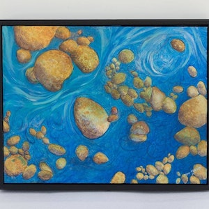 (CreativeWork) Water Eddies by Pete Martin. arcylic-painting. Shop online at Bluethumb.