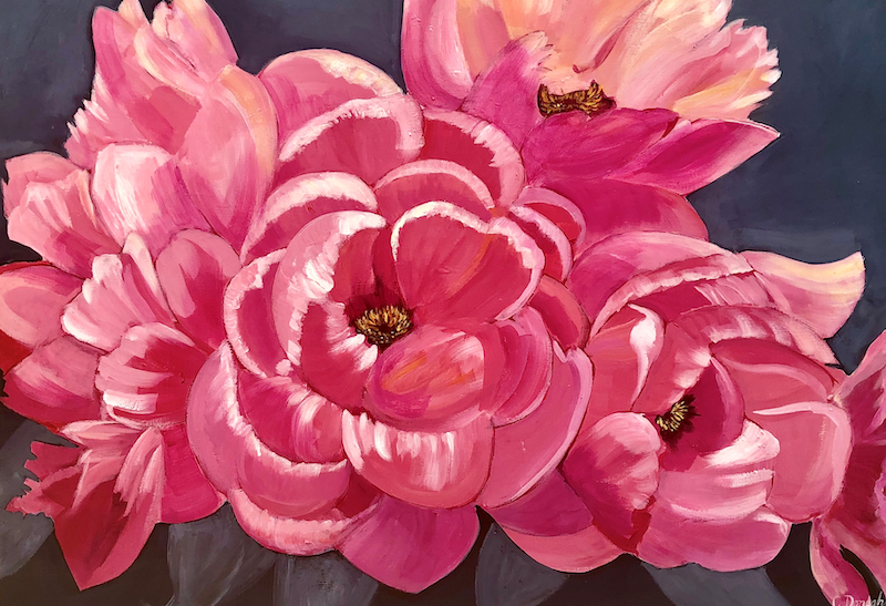 (CreativeWork) Beauty in Bloom by Claire Donaghy. arcylic-painting. Shop online at Bluethumb.