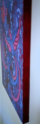 (CreativeWork) BIRDS OF A FEATHER by Lisa Dangerfield. Acrylic Paint. Shop online at Bluethumb.