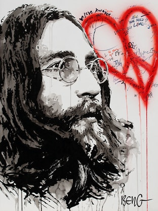 (CreativeWork) John Lennon by Soo Beng Lim. Drawings. Shop online at Bluethumb.
