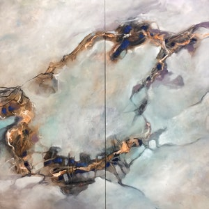 (CreativeWork) Ring of fires by sue bannister. oil-painting. Shop online at Bluethumb.