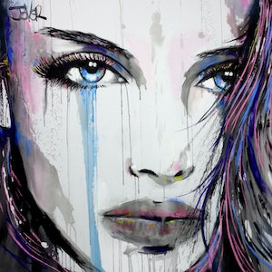 (CreativeWork) BEYOND HER by loui jover. arcylic-painting. Shop online at Bluethumb.