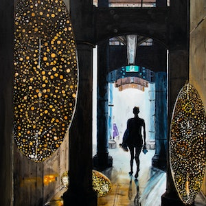 (CreativeWork) Carriageworks Art Show by Rodney Black. arcylic-painting. Shop online at Bluethumb.