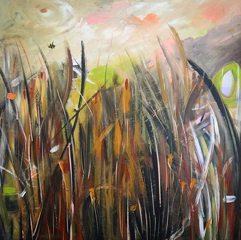 (CreativeWork) The Seed Pod by Tania Chanter. arcylic-painting. Shop online at Bluethumb.