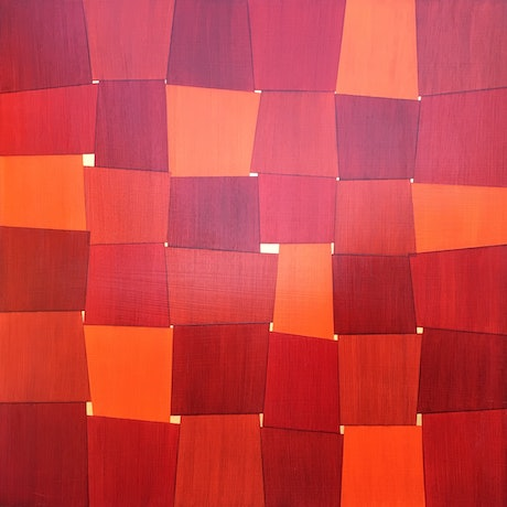 (CreativeWork) orange windows  by John Cottrell. Acrylic Paint. Shop online at Bluethumb.