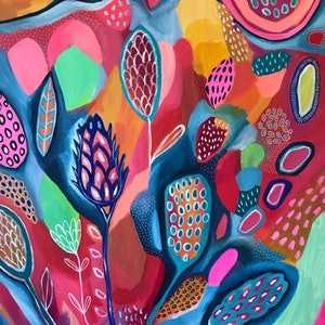 (CreativeWork) Your Lovely Heart  by Hayley Mischief Lord. arcylic-painting. Shop online at Bluethumb.