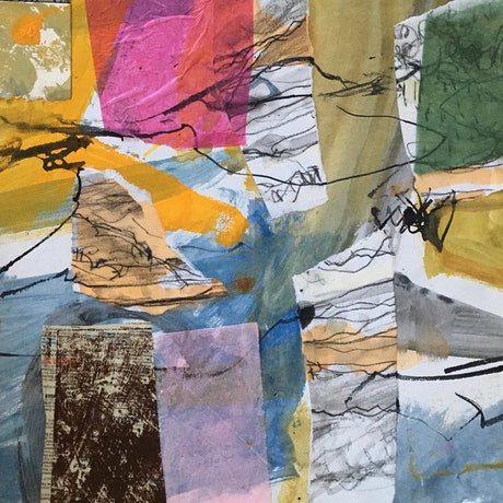 (CreativeWork) Country collage by Toni McDowell. Mixed Media. Shop online at Bluethumb.
