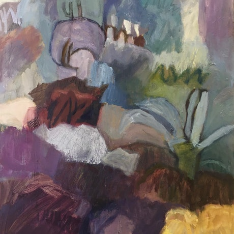 (CreativeWork) Canopy by Toni McDowell. Oil Paint. Shop online at Bluethumb.