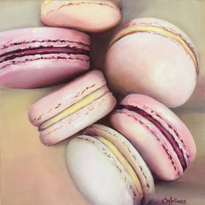 (CreativeWork) Lemon Raspberry Delight by Catherine Wallace. oil-painting. Shop online at Bluethumb.