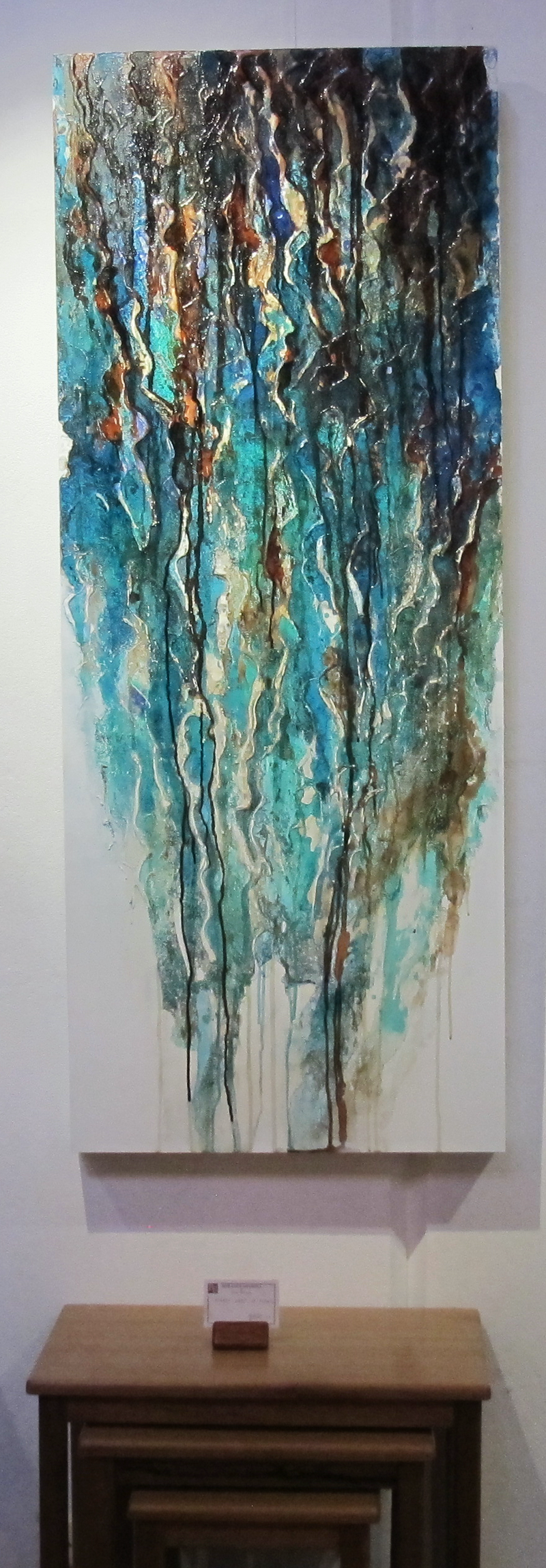 (CreativeWork) Cascade by Deborah Zibah. mixed-media. Shop online at Bluethumb.