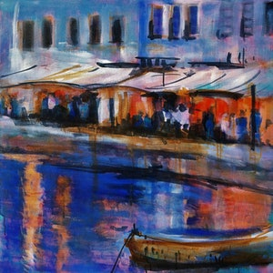 (CreativeWork) Evening Tide by Narelle Callen. arcylic-painting. Shop online at Bluethumb.