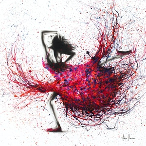(CreativeWork) Western Sunset Dancer by Ashvin Harrison. arcylic-painting. Shop online at Bluethumb.