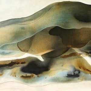(CreativeWork) Sand Drift 2 by Dinah Wakefield. mixed-media. Shop online at Bluethumb.