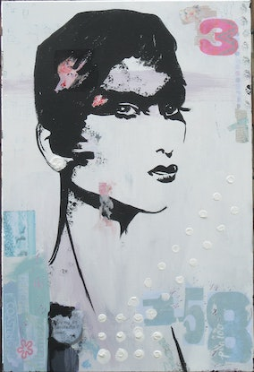 (CreativeWork) NIA by Lesley Taylor. Mixed Media. Shop online at Bluethumb.