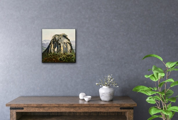 (CreativeWork) Mt Tibrogargan - Glass House Mountains  by Meredith Howse. #<Filter:0x000055912d560bd0>. Shop online at Bluethumb.