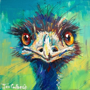 (CreativeWork) Emu 37 by Jos Coufreur. arcylic-painting. Shop online at Bluethumb.