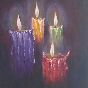 (CreativeWork) Spiritual Lights by Ernesto Zollo. arcylic-painting. Shop online at Bluethumb.
