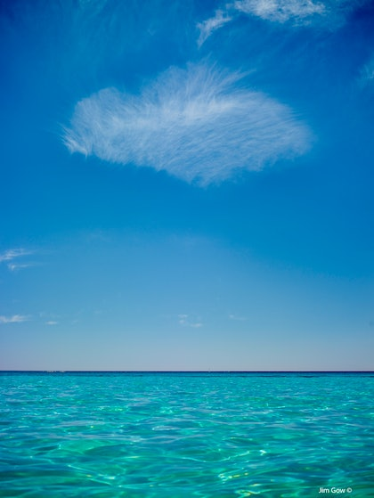 (CreativeWork) Heart Cloud Thompson Bay by Jim Gow. photograph. Shop online at Bluethumb.