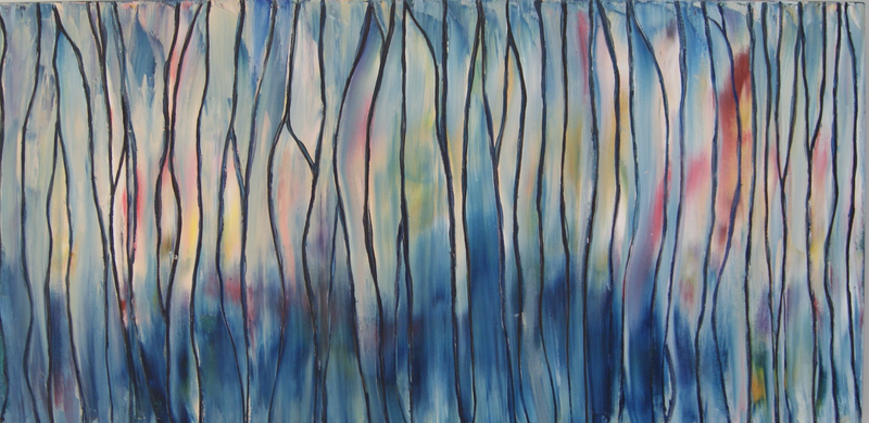 (CreativeWork) After the Rain by Corinne Young. oil-painting. Shop online at Bluethumb.