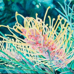 (CreativeWork) Evening honeydew by Andrea Henderson. oil-painting. Shop online at Bluethumb.