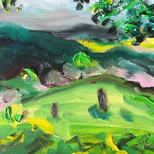 (CreativeWork) Beyond the Clouds by Stephen Tiernan. oil-painting. Shop online at Bluethumb.
