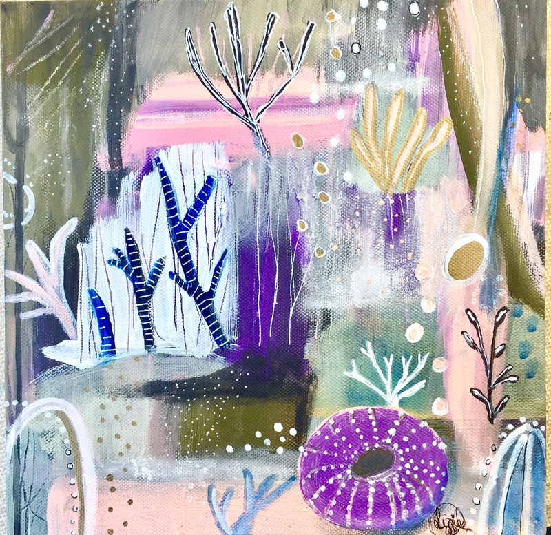 (CreativeWork) Underwater Magic  by Lizzie Alsop. mixed-media. Shop online at Bluethumb.