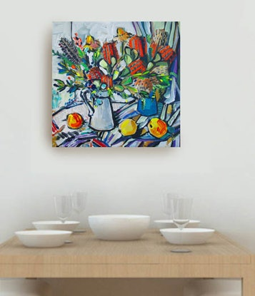 (CreativeWork) Banksia and Apples by Katerina Apale. #<Filter:0x00007fbca8cb01f8>. Shop online at Bluethumb.