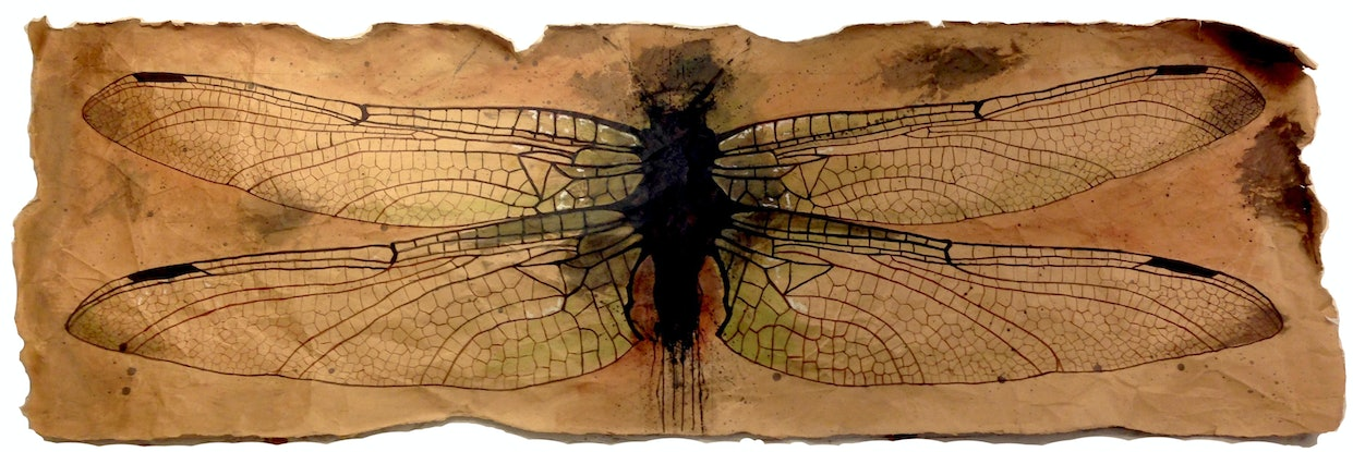 (CreativeWork) Wings by Ross Morgan. Mixed Media. Shop online at Bluethumb.