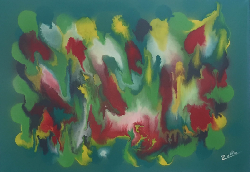 (CreativeWork) Let's Party by Ernesto Zollo. arcylic-painting. Shop online at Bluethumb.