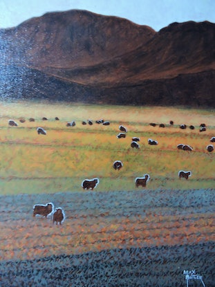 """(CreativeWork) """"My Country #416"""" by Max Butler. Oil Paint. Shop online at Bluethumb."""