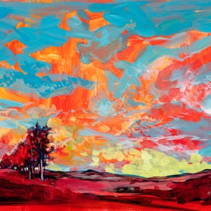 (CreativeWork) Red Earth and Blue Sky -  LIMITED EDITION (H)42cm x (W)59.4cm Ed. 1 of 50 by Scott Neil. print. Shop online at Bluethumb.