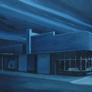 (CreativeWork) The Empty Shp by Colin Rowe. oil-painting. Shop online at Bluethumb.