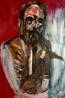 (CreativeWork) Lehmann Smith by Tobias Broughton. Oil Paint. Shop online at Bluethumb.