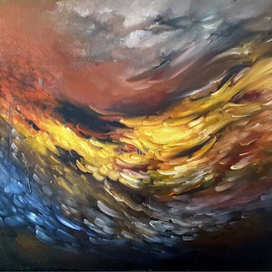 (CreativeWork) Dragon Dance  by Scott Maxwell. oil-painting. Shop online at Bluethumb.