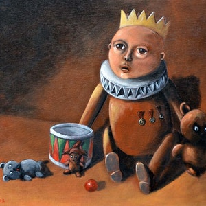 (CreativeWork) The Forgotten Toys by Max Horst  Sokolowski. arcylic-painting. Shop online at Bluethumb.