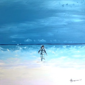 (CreativeWork) Winter Paddle  by Fred Thompson. arcylic-painting. Shop online at Bluethumb.