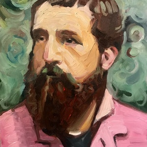 (CreativeWork) Claude Monet by Chris Martin. oil-painting. Shop online at Bluethumb.